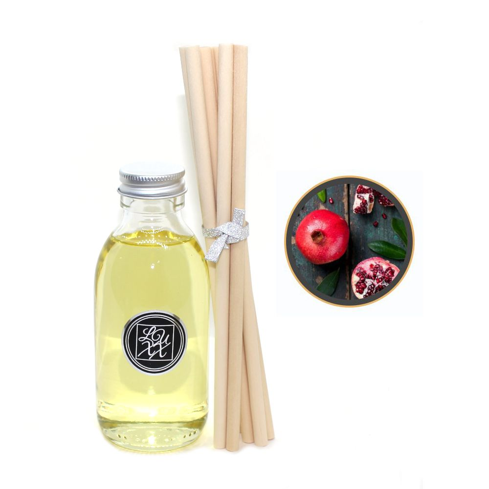 Black Pomegranate Diffuser Refill 150ml + 8 Reeds