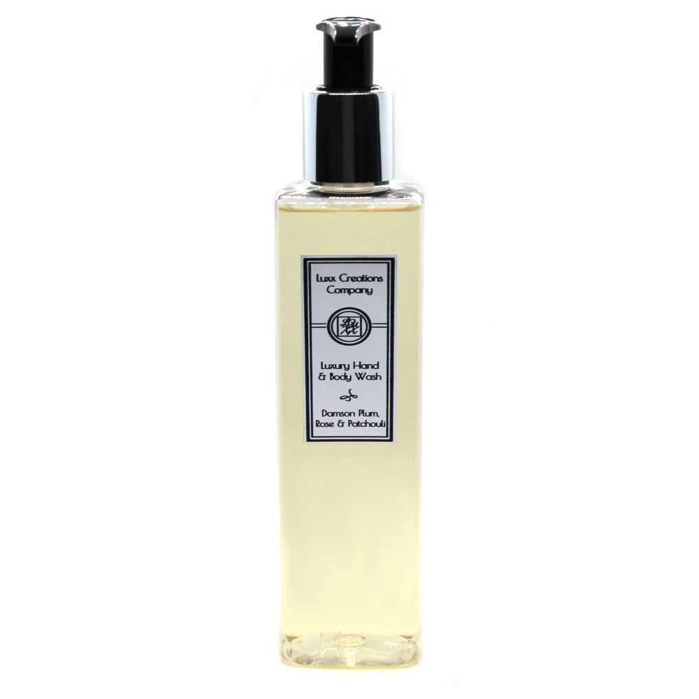 Damson Plum, Rose & Patchouli Luxury Hand & Body Wash - 250ml