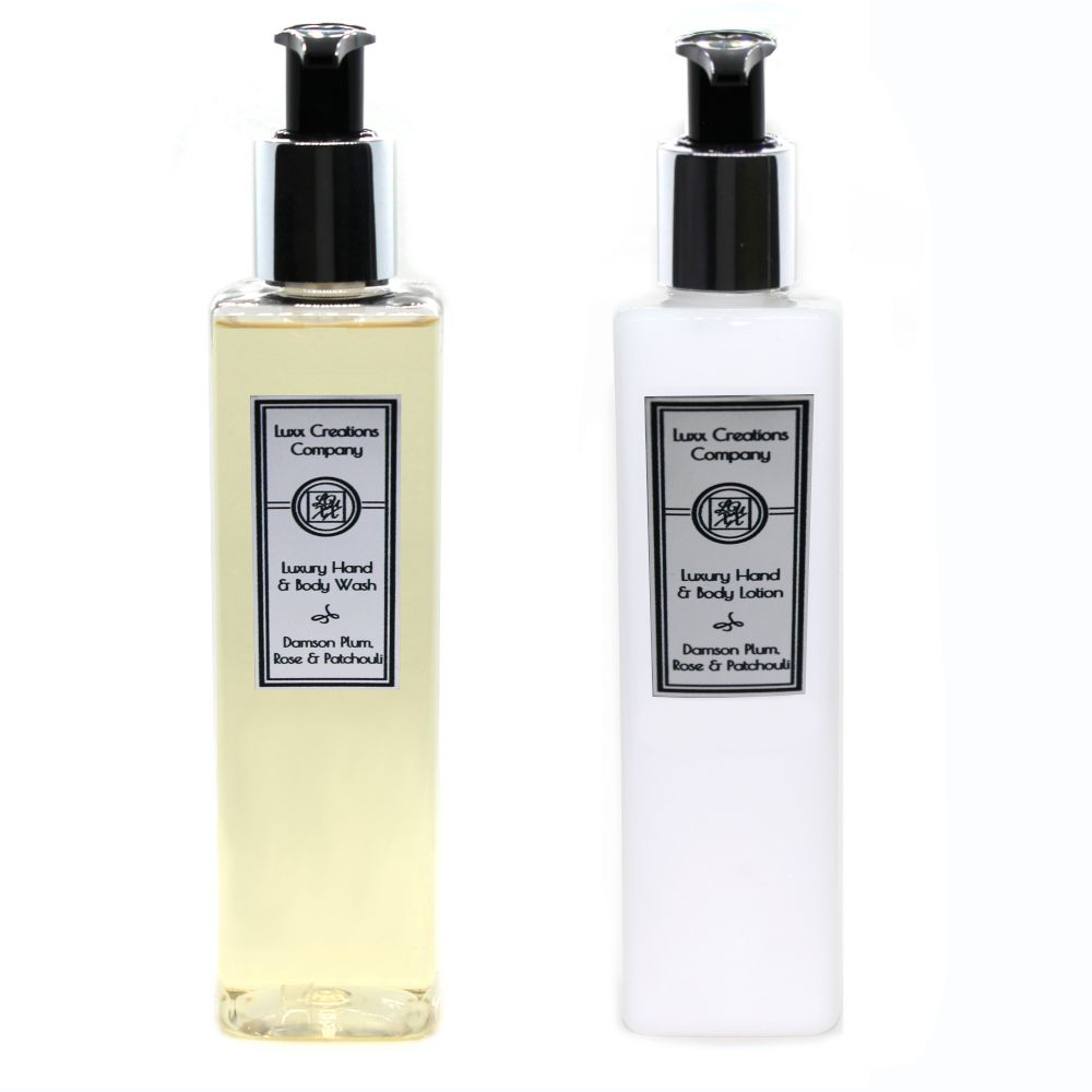 Damson Plum, Rose & Patchouli - Luxury Hand Soap & Lotion (250ml each)