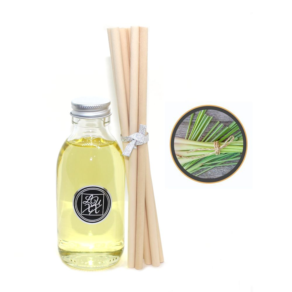 Lemongrass & Ginger Diffuser Refill 150ml + 8 Reeds