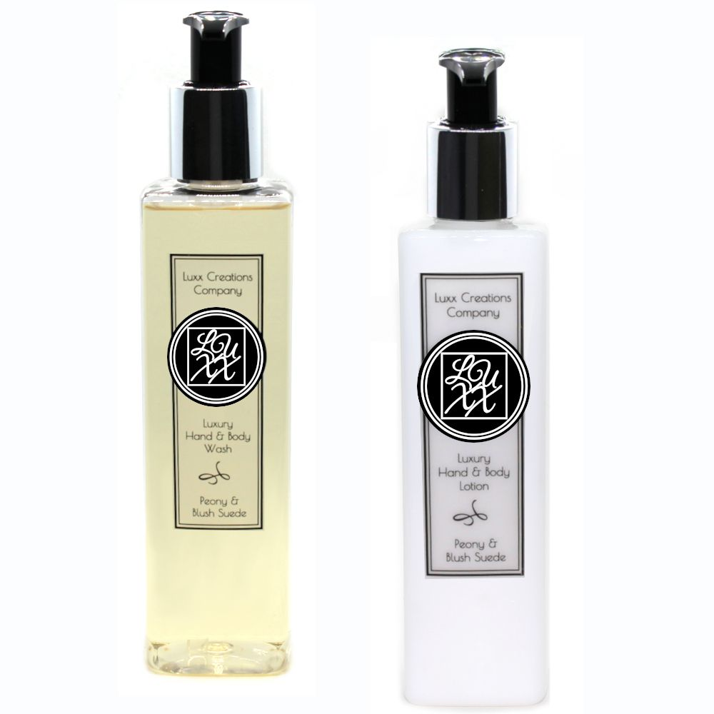 Peony & Blush Suede - Luxury Hand Soap & Lotion