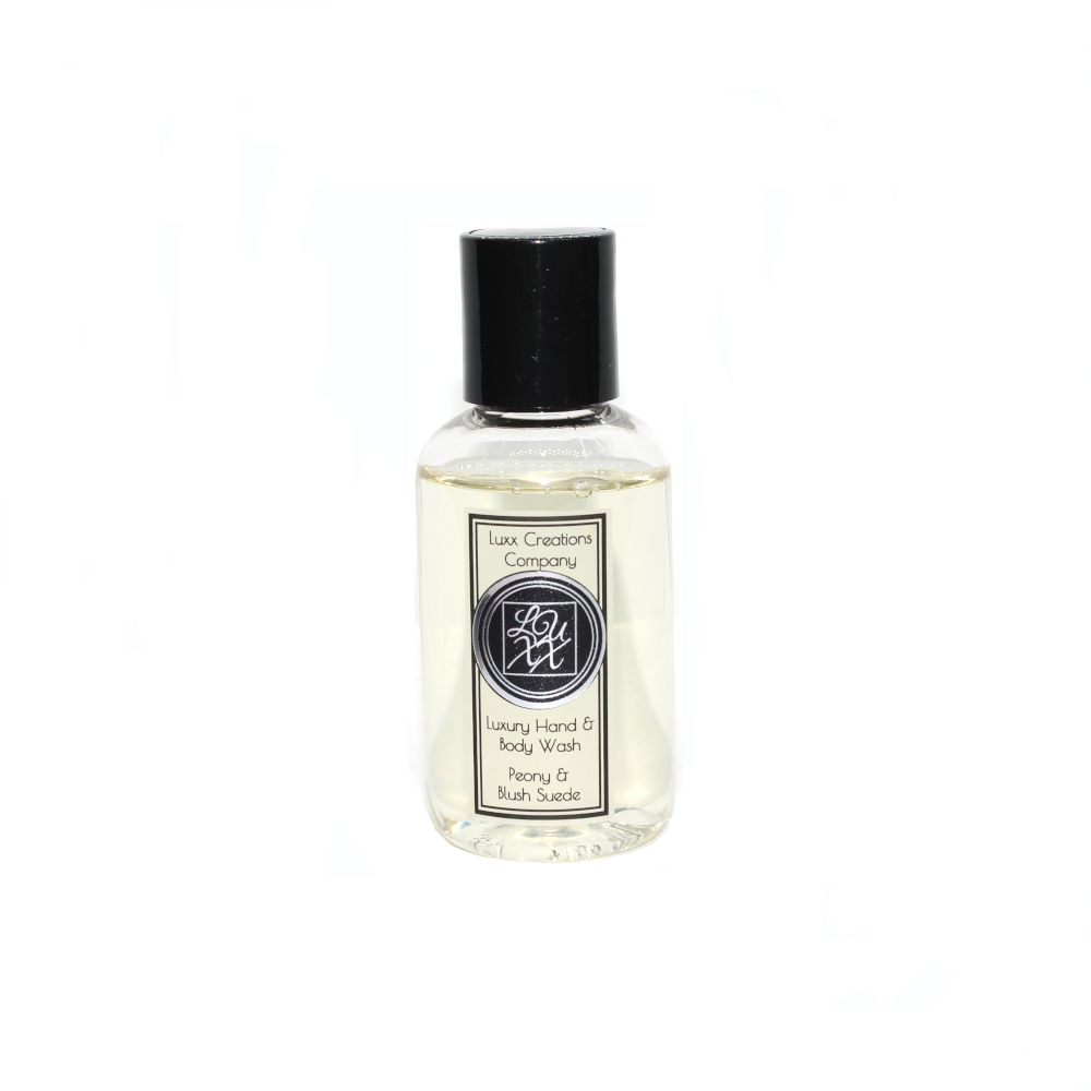 Peony & Blush Suede Luxury Travel Hand & Body Wash 60ml